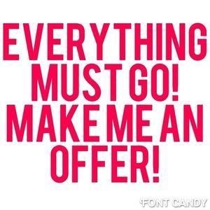 Accepting reasonable offers!